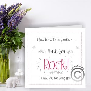 Positive Affirmation Greetings Card You Rock!