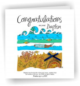 Congratulations on Your Baptism Handmade Greetings Card