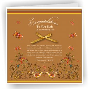 Handmade Christian Wedding Card