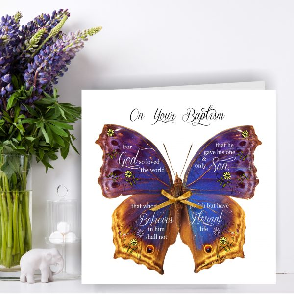 Baptism Butterfly Card