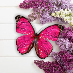 Crown of Beauty Isaiah 61 3D Butterfly Gift