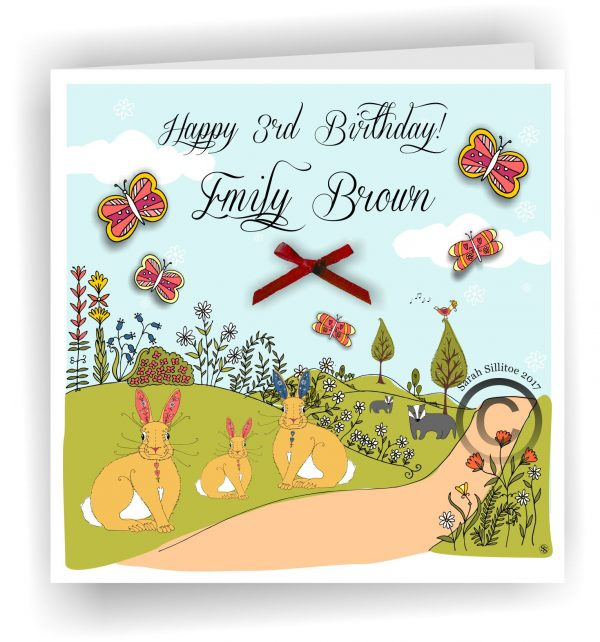 Birthday Card Personalised Name And Age