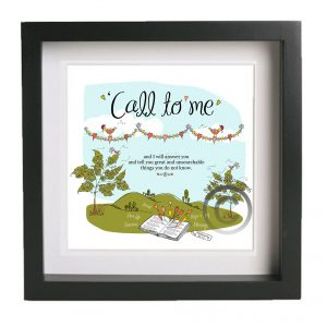 Call to me Bible Verse Christian Art Print Gift 2