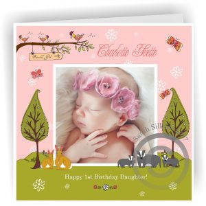 Personalised Name And Age Daughter Birthday Card