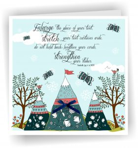Enlarge Place of Tent Bible Verse Greetings Card