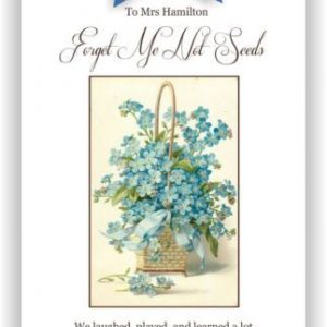 Forget Me Knot Seed Packet Teachers Gift
