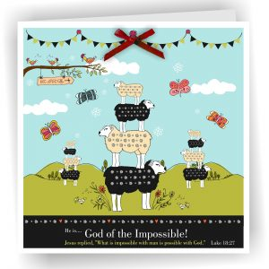 God of the impossible Luke 18 v 27 Christian Greetings Card