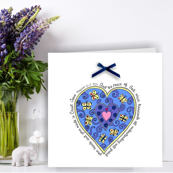 Heart Peace Christian Art Card