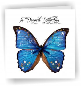 In Deepest Sympathy Butterfly Greetings Card