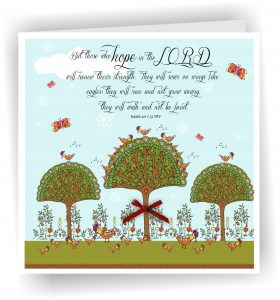 Handmade Isaiah 40 v 31 Christian Art Card Renew Strength