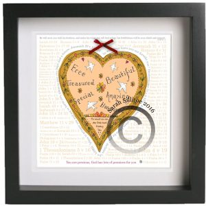 Jeremiah 29 v 11 Heart Christian Framed Art Print Gift