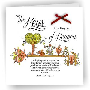 Keys of Kingdom Matthew 16 v 19 Christian Art Card