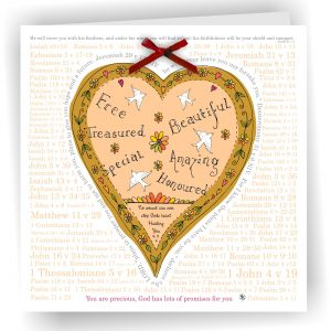 Many Bible Verses Heart Greetings Card