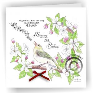 Morning Has Broken Christian Art Card Singing Bird