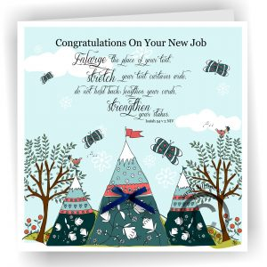 New Job Greetings Card Isaiah 54 v 2