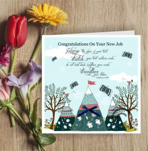 New Job tents Christian Greetings Card