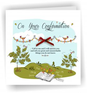 On Your Confirmation Girl Christian Greetings Card