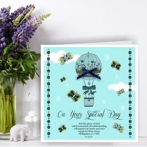 On Your Special Day Blue Christian Greetings Card