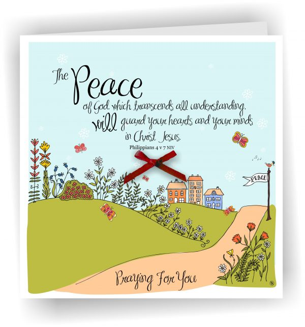 Peace of God Praying For You Christian Greetings Card