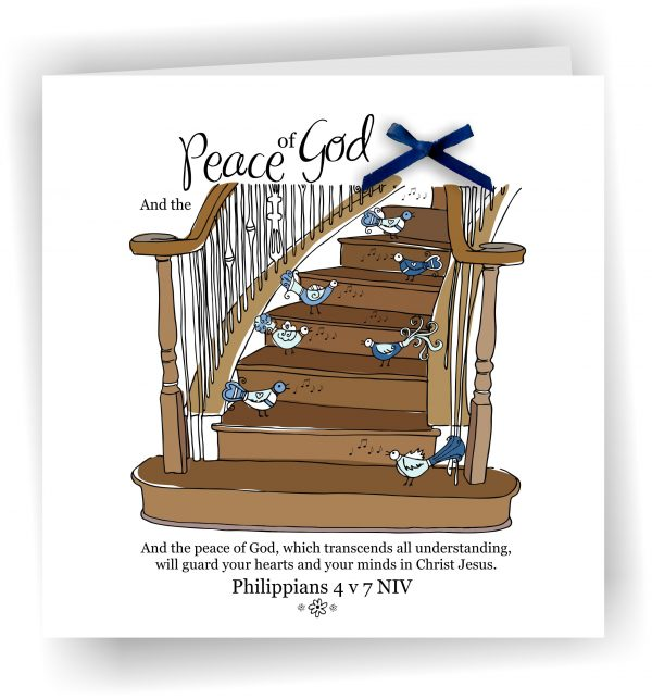 Philippians 4 v 7 Stairs To HEaven Bird Song Card