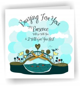 Praying For You Bridge Christian Greetings Card