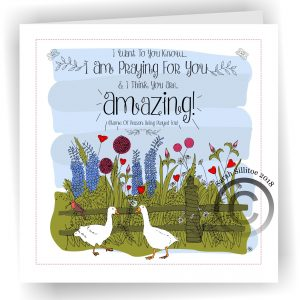 Praying For You Personalised Card