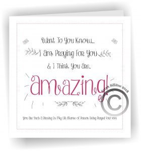 Praying For You Personalised Card Amazing