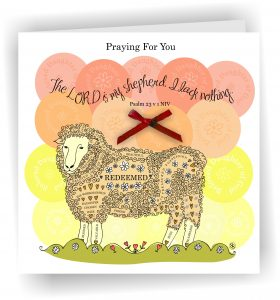 Praying for you Psalm 23 Christian Greetings Card