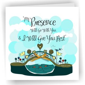 My Presence Go With You Greetings Card