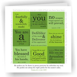 Psalm 23, Psalm 139 v 14 Art Card