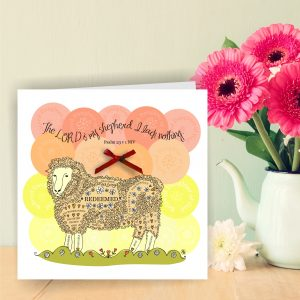 Psalm 23 v 1 Precious Daughter Of God Sheep Christian Art Card