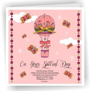 Special Day Pink Christian Greetings Card