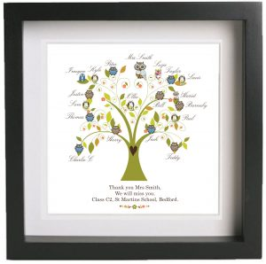 Personalised Gift Teachers Class Owl Tree