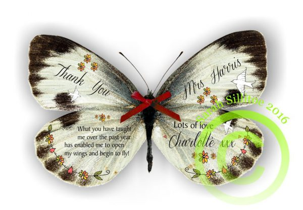 Teaching Assistant Teacher Cream Personalised Butterfly 3D Print Gift Thank You Gifts