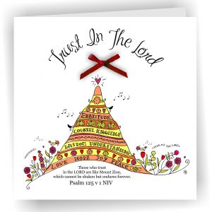 Trust in the Lord Christian Art Card