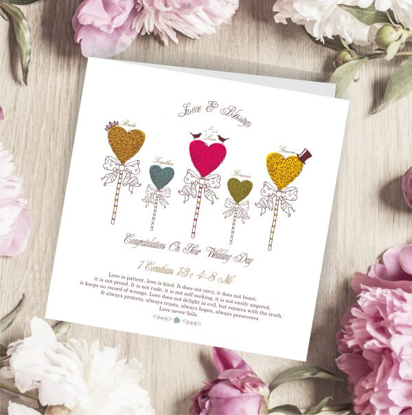 Wedding Greetings Card Hearts