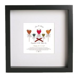 Wedding Hearts Framed Print