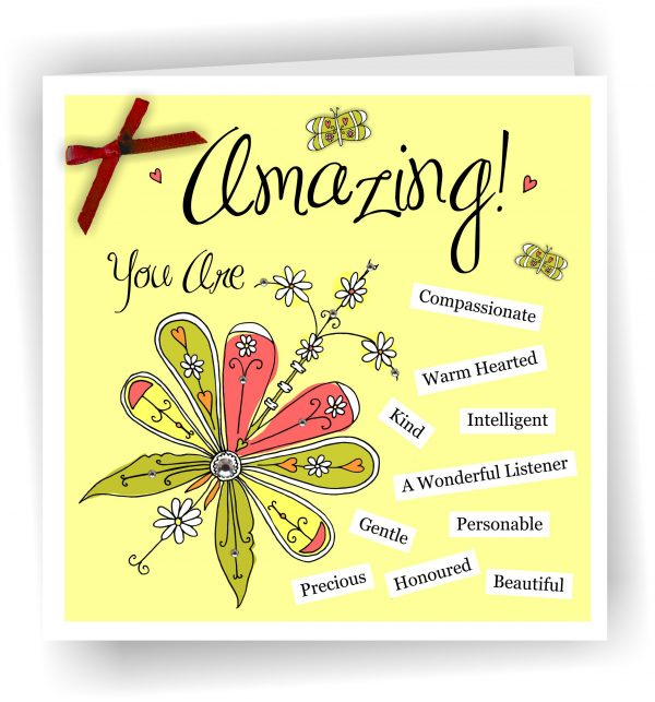 You Are Amazing Christian Art Card