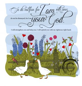 Isaiah 41 v 10 Christian Adult Colouring /Coloring In Sheet