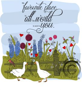 Geese Positive Quote Colouring / coloring In Sheet