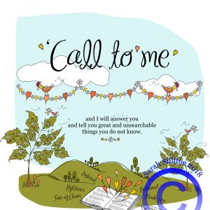Call To Me, Jeremiah 33 v 3 Coloring in Sheet