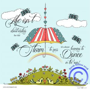Dance In The Rain Colouring In Sheet Example