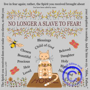 No Longer A Slave To Fear Romans 8 v 15 Adult Colouring In Sheet