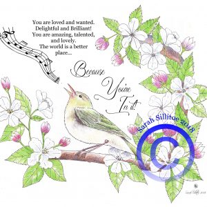 Prophetic Word Colouring Sheet Singing Bird
