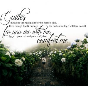 Psalm 23 Christian Art Print Valley