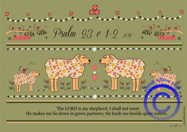 Psalm 23 Sheet Colouring In Sheet Example