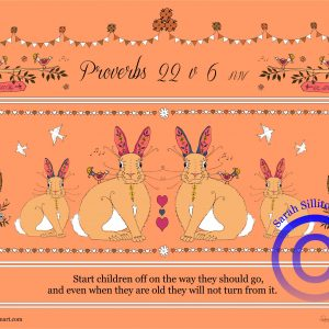 Proverbs 22 v 6 Adult Christian Colouring / Coloring In Sheet