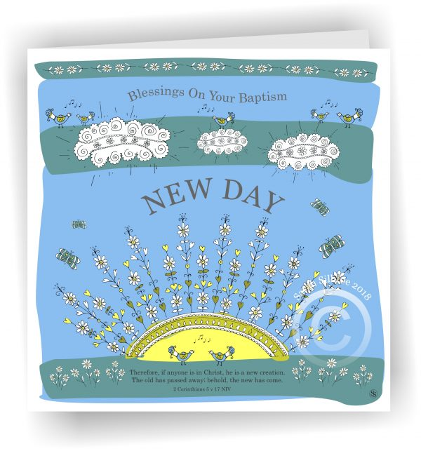 Sunrise New Day Baptism Christian Greetings Card