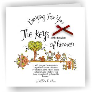Card Matthew 16 v 19 Praying For You Christian Greetings Card