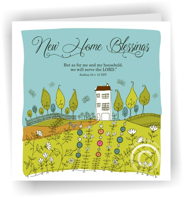 Joshua 24 v 15 New Home Blessings Christian Greetings Card